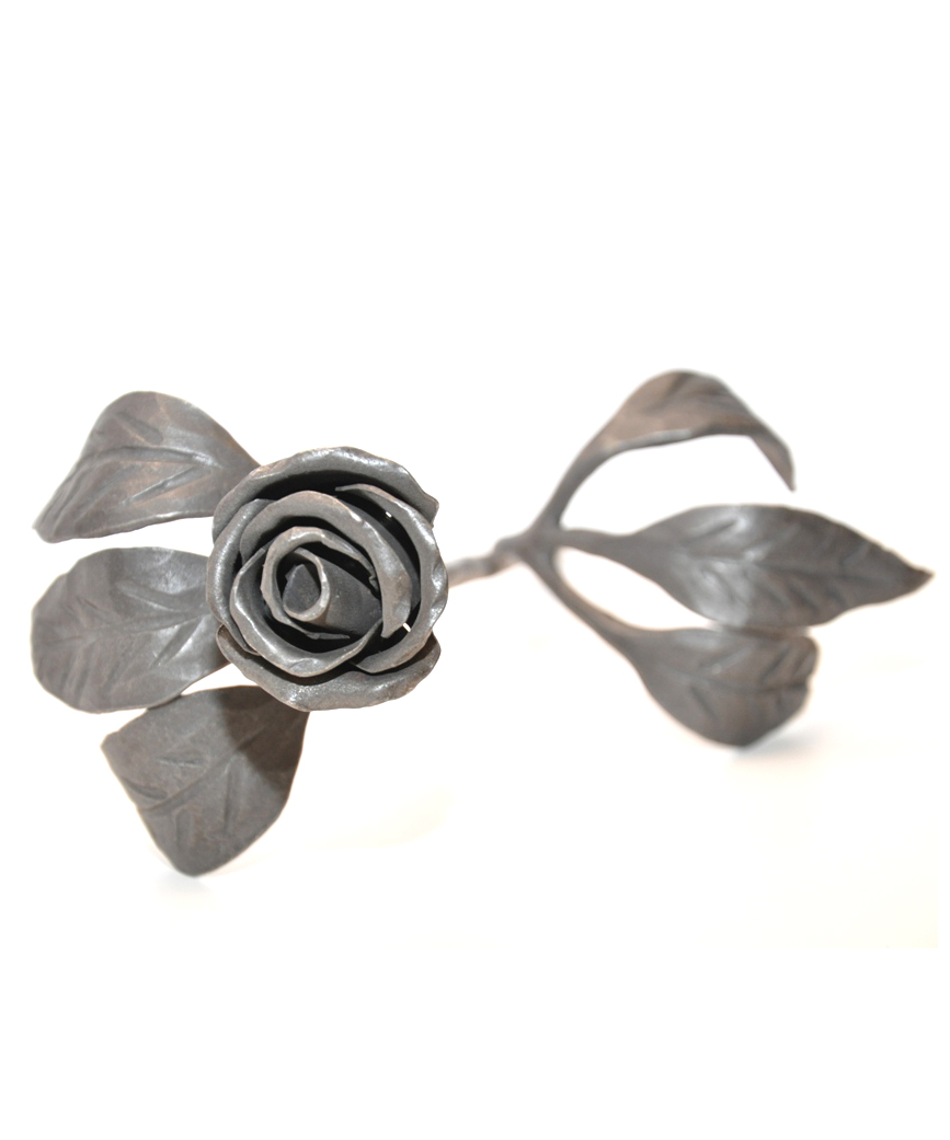 Hand Forged Rose by Blacksmith