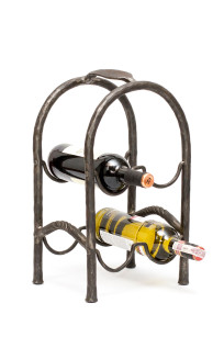 Hand Forged Wine Rack by Blacksmith