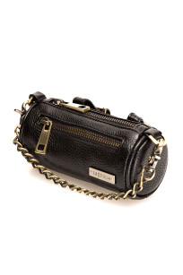 Multifunctional bag in black leather, several bags in one