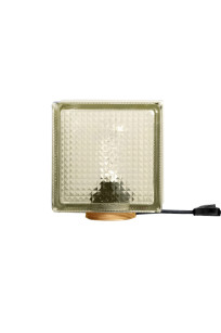 Glass Brick desk lamp Dark Rustica.