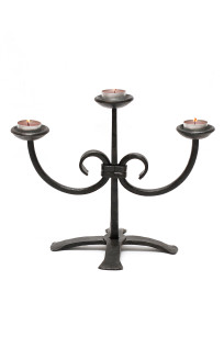 Hand Forged Candlestick by Blacksmith