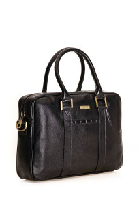 Business bag in leather with an extra pocket for your computer, ideal as work-, laptop-, and handbag.