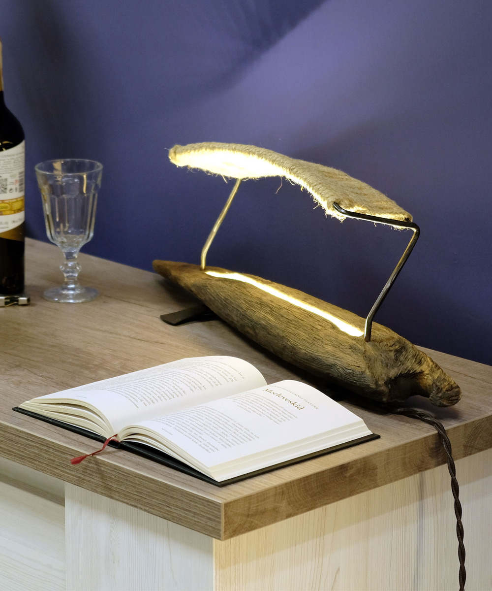 Driftwood Table Lamp Kite DWo6 | a Unique LED Table Lamps at CraftEst