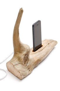 Wooden iPhone 5 and 6 charger - holder