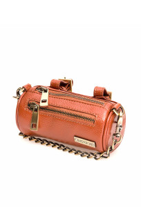 Multifunctional bag in brown leather, several bags in one